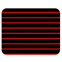 Red And Black Horizontal Lines And Stripes Seamless Tileable Double Sided Flano Blanket (medium)