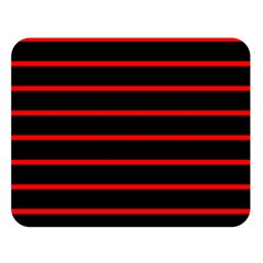 Red And Black Horizontal Lines And Stripes Seamless Tileable Double Sided Flano Blanket (large)