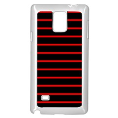 Red And Black Horizontal Lines And Stripes Seamless Tileable Samsung Galaxy Note 4 Case (white)