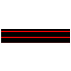 Red And Black Horizontal Lines And Stripes Seamless Tileable Flano Scarf (small)