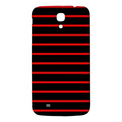 Red And Black Horizontal Lines And Stripes Seamless Tileable Samsung Galaxy Mega I9200 Hardshell Back Case