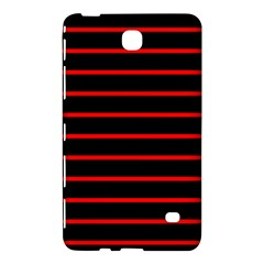 Red And Black Horizontal Lines And Stripes Seamless Tileable Samsung Galaxy Tab 4 (7 ) Hardshell Case