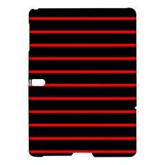 Red And Black Horizontal Lines And Stripes Seamless Tileable Samsung Galaxy Tab S (10.5 ) Hardshell Case
