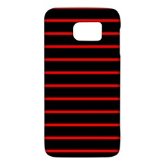 Red And Black Horizontal Lines And Stripes Seamless Tileable Galaxy S6
