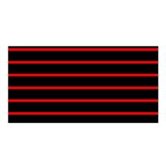 Red And Black Horizontal Lines And Stripes Seamless Tileable Satin Shawl
