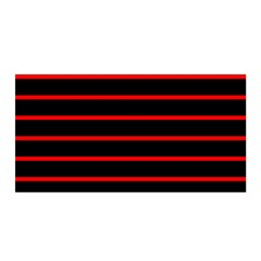 Red And Black Horizontal Lines And Stripes Seamless Tileable Satin Wrap