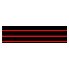 Red And Black Horizontal Lines And Stripes Seamless Tileable Satin Scarf (oblong)
