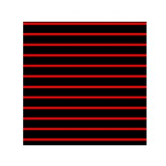 Red And Black Horizontal Lines And Stripes Seamless Tileable Small Satin Scarf (square)