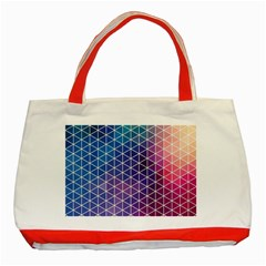 Neon Templates And Backgrounds Classic Tote Bag (red)