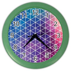 Neon Templates And Backgrounds Color Wall Clocks
