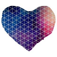 Neon Templates And Backgrounds Large 19  Premium Heart Shape Cushions