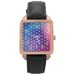Neon Templates And Backgrounds Rose Gold Leather Watch