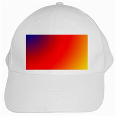 Rainbow Background White Cap