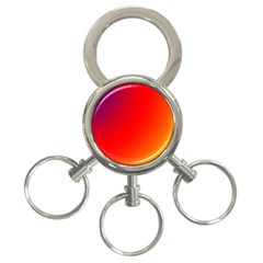 Rainbow Background 3 Ring Key Chains