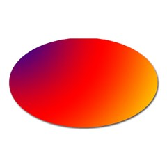 Rainbow Background Oval Magnet