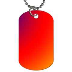 Rainbow Background Dog Tag (two Sides)