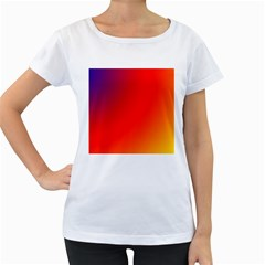 Rainbow Background Women s Loose-Fit T-Shirt (White)