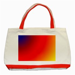 Rainbow Background Classic Tote Bag (red)