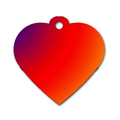 Rainbow Background Dog Tag Heart (one Side)