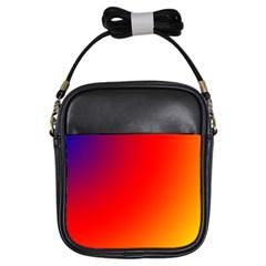 Rainbow Background Girls Sling Bags