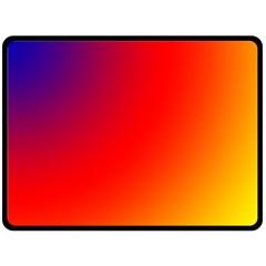 Rainbow Background Fleece Blanket (large)