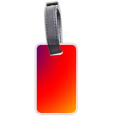 Rainbow Background Luggage Tags (two Sides)