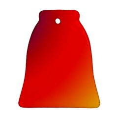 Rainbow Background Bell Ornament (two Sides)