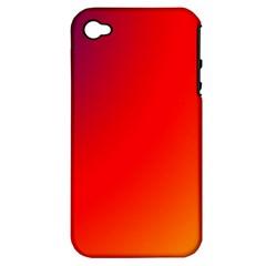 Rainbow Background Apple Iphone 4/4s Hardshell Case (pc+silicone)