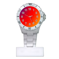 Rainbow Background Plastic Nurses Watch