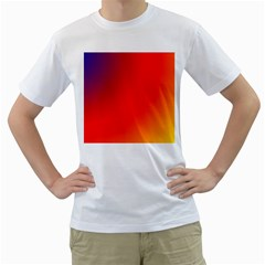 Rainbow Background Men s T Shirt (white)