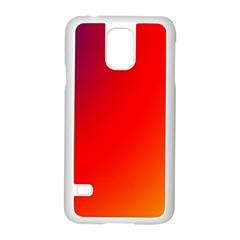 Rainbow Background Samsung Galaxy S5 Case (white)