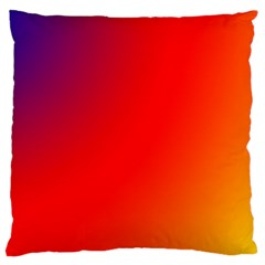 Rainbow Background Large Flano Cushion Case (two Sides)