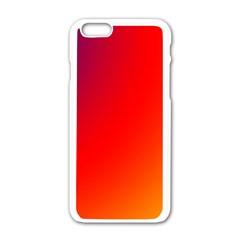 Rainbow Background Apple Iphone 6/6s White Enamel Case