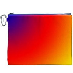 Rainbow Background Canvas Cosmetic Bag (xxxl)