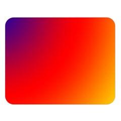 Rainbow Background Double Sided Flano Blanket (large)