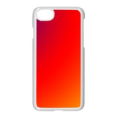 Rainbow Background Apple Iphone 7 Seamless Case (white)