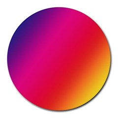 Rainbow Colors Round Mousepads