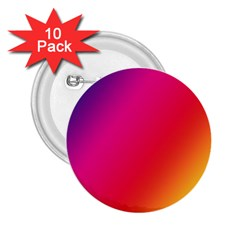 Rainbow Colors 2 25  Buttons (10 Pack)
