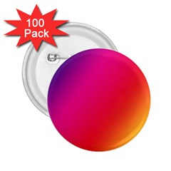 Rainbow Colors 2.25  Buttons (100 pack)