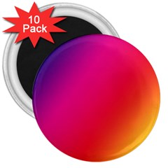 Rainbow Colors 3  Magnets (10 Pack)