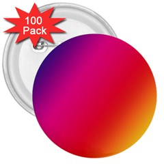 Rainbow Colors 3  Buttons (100 pack)
