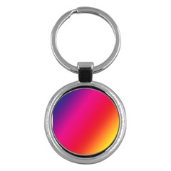 Rainbow Colors Key Chains (round)