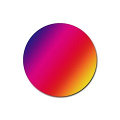 Rainbow Colors Rubber Round Coaster (4 Pack)