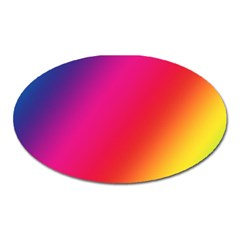 Rainbow Colors Oval Magnet