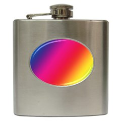 Rainbow Colors Hip Flask (6 Oz)