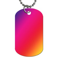 Rainbow Colors Dog Tag (two Sides)