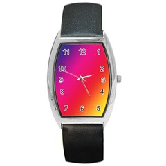 Rainbow Colors Barrel Style Metal Watch