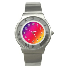 Rainbow Colors Stainless Steel Watch
