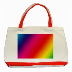 Rainbow Colors Classic Tote Bag (red)