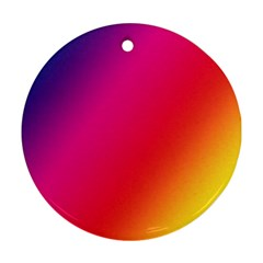 Rainbow Colors Round Ornament (two Sides)